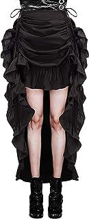 Belle Poque Vokuhila Rock Damen Vintage Elegant Steampunk Retro Gothic Rüschen Rock Viktoria Kostüm Party Rock