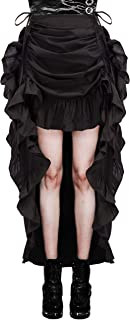 Women's Steampunk Gothic Wrap Skirt Victorian Ruffles Pirate Skirt