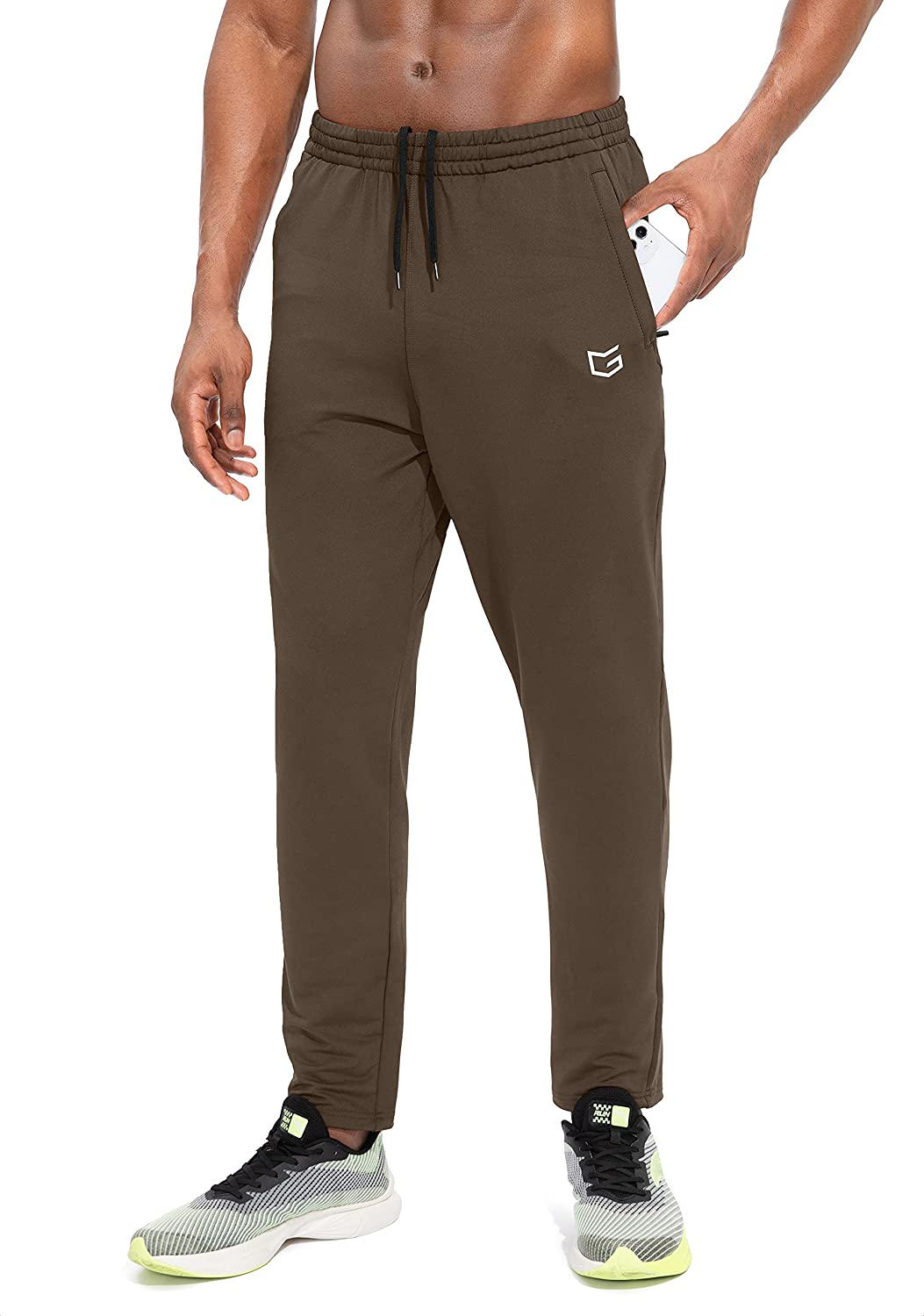 G Gradual Indefinitely Men's Sweatpants with Ath Zipper Track Tapered Pockets Over item handling