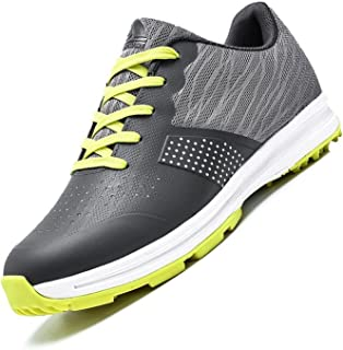 Golfschoenen voor heren,waterdichte Golf Shoes Men Outdoor antislip Ademende slijtvaste spijkervrije zachte bodem dames g...