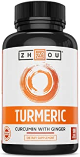 Zhou Turmeric Curcumin and Ginger with Bioperine 1800 mg | Extra Strength Antioxidant for Maximum Joint Comfort and Mobili...