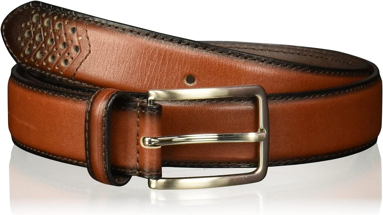 Stacy Adams Men's 32mm Burnished Leather Belt