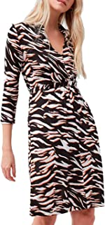 French Connection womens THITA IGER TIGER MEDJRSY LS DR Casual Dress