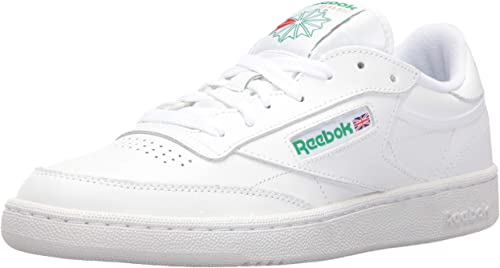 Reebok Men's Club C 85 Walking zapatos, blancoo verde, 14 M US