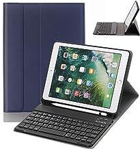 iPad 9.7 Keyboard Case with Pencil Holder for iPad 9.7 2018&2017,iPad Pro 9.7,iPad Air 2&1 Smart Stand PU Leather Case Detachable Bluetooth Keyboard with Auto Sleep/Wake (Navy Blue)