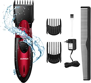 Surker Hair Clipper For Men Waterproof Professional Hair Cutting Kit Cordless Rechargeable Hair Beard Trimmer With Attachments For Father/Husband/Boyfriend