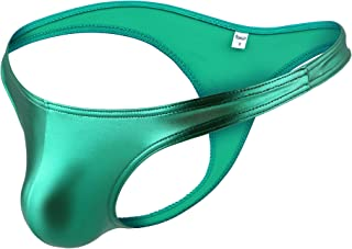 Men Shiny Metallic Underwear Bikini Underpants Thongs G-String Swimsuit