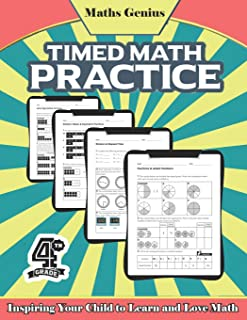 Maths Genius// Timed Math practice Grade 4// Inspiring Your Child to Learn and Love Math: Complete Math Workbook Grade 4: ...