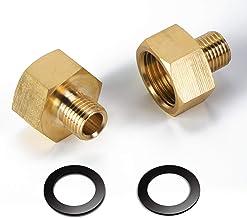 JIPRENS Gas Adapter 1/2  Zoll IG x 1/4  Zoll AG,Gasschlauch Verbinder aus Messing Gasherd Adapter Set--1/2 Rechts Innengewinde auf 1/4 Links Aussengewinde,Adapter Gasherd für Gasherd oder Kochfeld