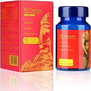 ED Pills Man Supplement 42 Capsules, 100% Natural Herbs Male Performance Pills, Nutritional Supplement for Men Enhance Energy, Stamina, Immune & Vitality