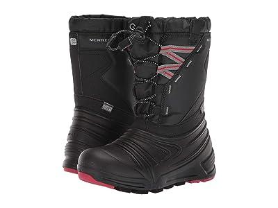Merrell Kids Snow Quest Lite 2.0 Waterproof (Little Kid/Big Kid) (Black) Boys Shoes