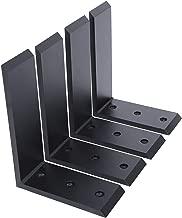 """4 Black Steel 6""""x8"""" Countertop Support Brackets Mantel Corbel Lot L Shelf"""
