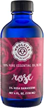Woolzies Best 100% Pure & Natural Rose Essential Oil Blend 4 Oz - Therapeutic & Premium Graded Aromatherapy Oil - Most Popular for Relaxation, Skin Healing Use - For Diffusion & Topical Use