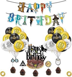 Globos Cumpleaños Decoración Mago, 39 piezas Fiesta Deco Wizard Escolares Magos,Feliz Cumpleaños, para Cupcakes Toppers,Ad...