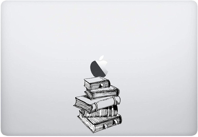 Laptop Sticker Super beauty product restock Finally resale start quality top - Stack of Books Black Skins S Matte Underneath