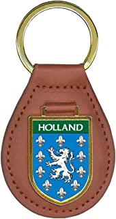 Holland Family Crest Coat of Arms Lot of Total Key Chains