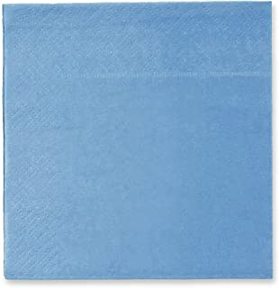 Cocktail Napkins - 150-Pack Disposable Paper Napkins, 2-Ply, Pool Blue, 13 X 13 Inches
