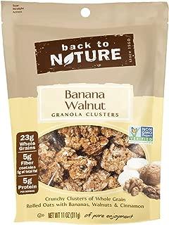 Back to Nature Granola Clusters, Non-GMO Banana Walnut, 11 Ounce