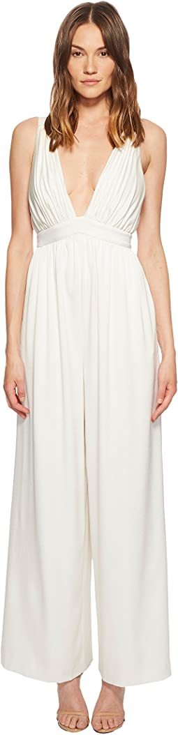 Anouk Satin-Backed Crepe Jumpsuit
