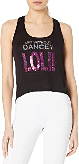 Gia Mia Dance Women's LOL Lace Back Tank Jazz Hip Hop Performance Team