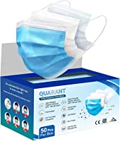 QUARANT 3 Ply Protective Surgical Face Mask, BFE >98% & PFE >95%, ISI, BIS, CE & ISO Certified, Melt Blown - SMMS Layer...