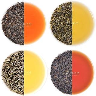 VAHDAM, Earl Grey Tee Sampler 5 TEES Schwarzer Tee, Grün - Oolong-, Weißer -, Chai Tee gemischt mit natürlichem Bergamotteöl, Teesortenpackung, Bergamotte Tee, loser Tee | Valentins-Geschenk-Set