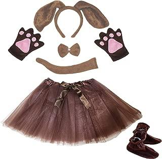 Petitebella Dog Headband Bowtie Tail Glove Shoes Tutu Girl 6pc Costume