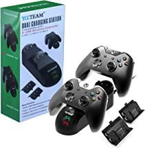 Xbox One Controller Charger, Xbox One /One S / One Elite Controller Charging Station with 2 Pack Xbox Rechargeable Battery for Xbox Wireless Controller Kit