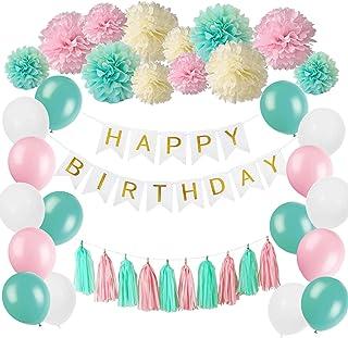 ETHEL Compleanno Festa Decorazioni,Banner Buon Compleanno,Poster di Segno in Oro Nero Festa di Compleanno,per Giardino Tavolo Parete Decorazioni 13