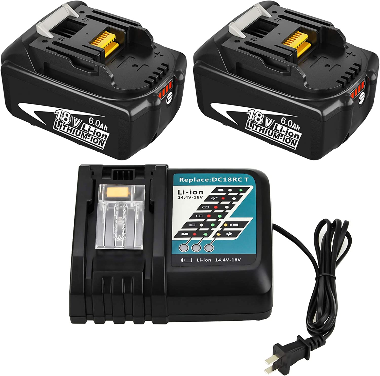 6.0Ah 別倉庫からの配送 BL1860B Battery + DC18RC C Replacement Charger and 期間限定特価品