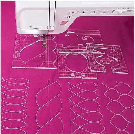 Quilten Vorlage Acryl Home N/ähmaschine Quilting Lineal,Quilten Vorlage Acryl Home N/ähmaschine Quilting Lineal