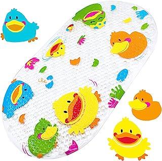 Yolife Antypoślizgowa mata do kąpieli Jasne fantazyjne maty do kąpieli z nadrukiem kreskówkowym z przyssawką dla dzieci Ma...