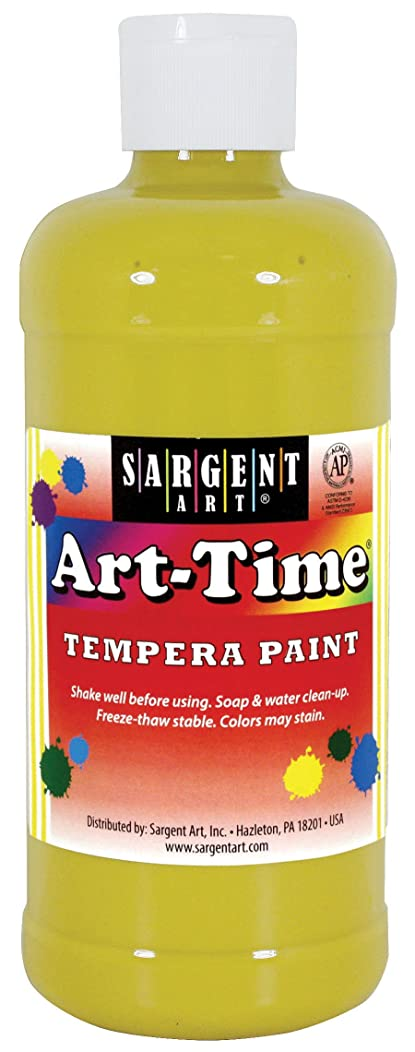 Sargent Art 17-6402 16 oz Yellow Art-Time Tempera Paint