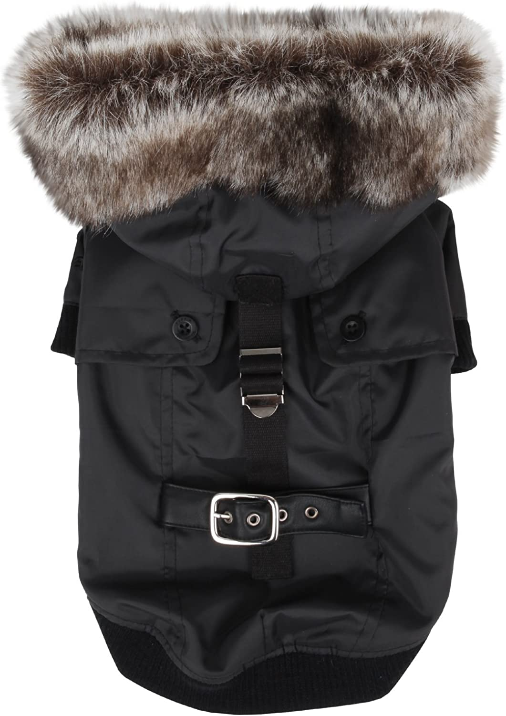Puppia Authentic Greatcoat Winter Dog Coat, Small, Black