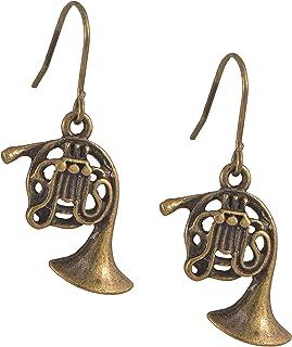 گوشواره های موسیقی سازهای برنز موسیقی عتیقه Spinningdaisy
