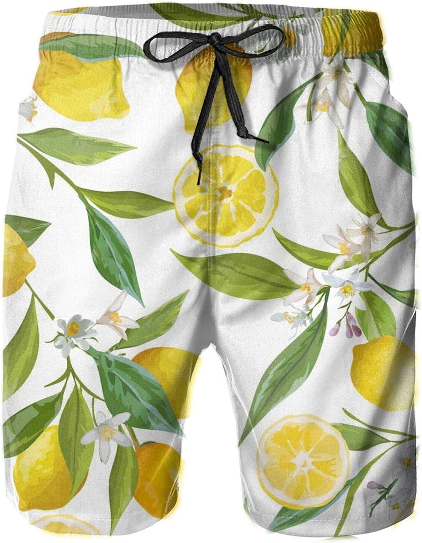 Yt92Pl@00 Men's 100% Polyester Max 58% OFF Beachwear Pattern Comfort Floral cheap