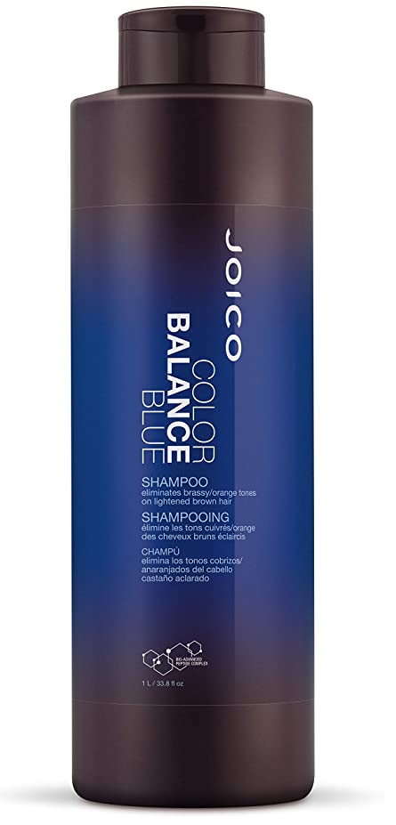 椅子カートミサイルジョイコ Color Balance Blue Shampoo (Eliminates Brassy/Orange Tones on Lightened Brown Hair) 1000ml/33.8oz並行輸入品