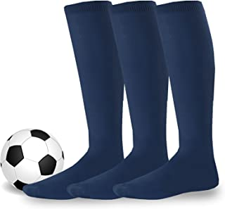Acrylic Unisex Soccer Sports Team Cushion Socks 3 Pack
