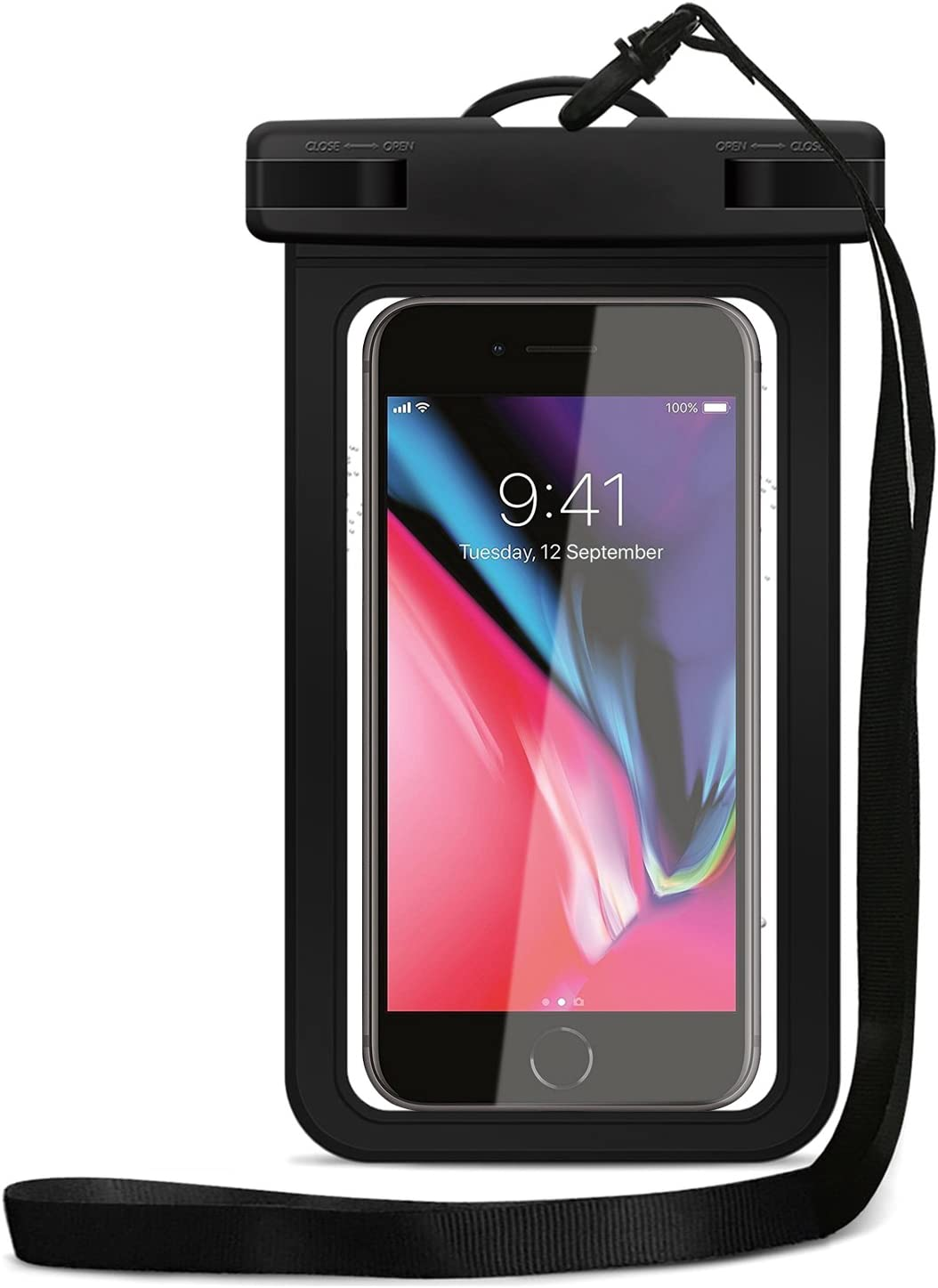 Cloudio Universal Waterproof Case, IPX8 Cell Phone Dry Bag Pouch up to 6.2