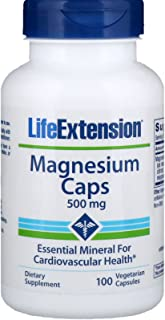 Life Extension Magnesium Vegetarian Capsules, 500 mg, 100 Count ,Pack of 2