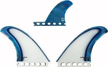 Captain Fin Co. CF-Twin Acid Splash Surfboard Fins - 2 Fin Set - Single Tab - Blue
