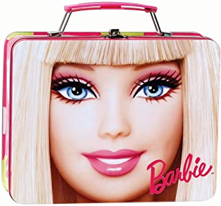 Barbie All Dolled Up Metal Box with Handle, 6 x 7-5/8 x 2-1/4 Inches