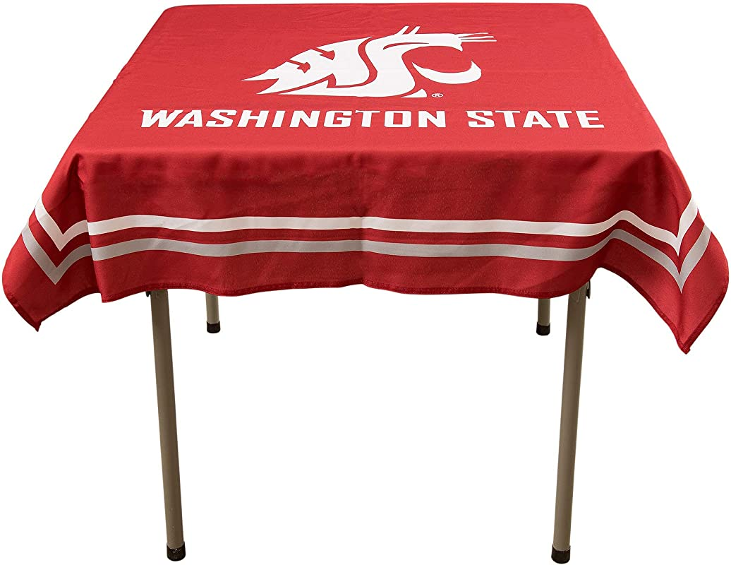 College Flags And Banners Co Washington State Cougars Logo Tablecloth Or Table Overlay