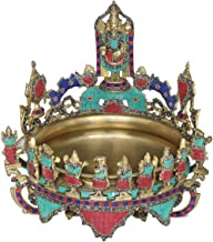 Tirupati Balaji Urli with Dashavatara and Vaishnava Symbols - Brass Statue with Inlay Work