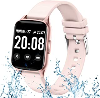 Fitness Tracker Watch for Women Men - Waterproof Smart Watch with Blood Pressure Heart Rate Monitor, Activity Tracker Watch with Pedometer Calorie Music Full Touch Smart Watch for Android iOS Phones