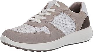 حذاء رياضي رجالي من ECCO Men's Soft 7 Runner Retro ، Moon Rock/White/Tarmac، 43 (رجالي أمريكي 9-9. 5) M