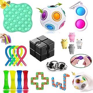 GNGDSK Fidget Toys Pack, Fidget Toys Sensory Toys Simple Fidget Toy for Soulager Le Stress et l'anxiété, pour Enfants, Cou...