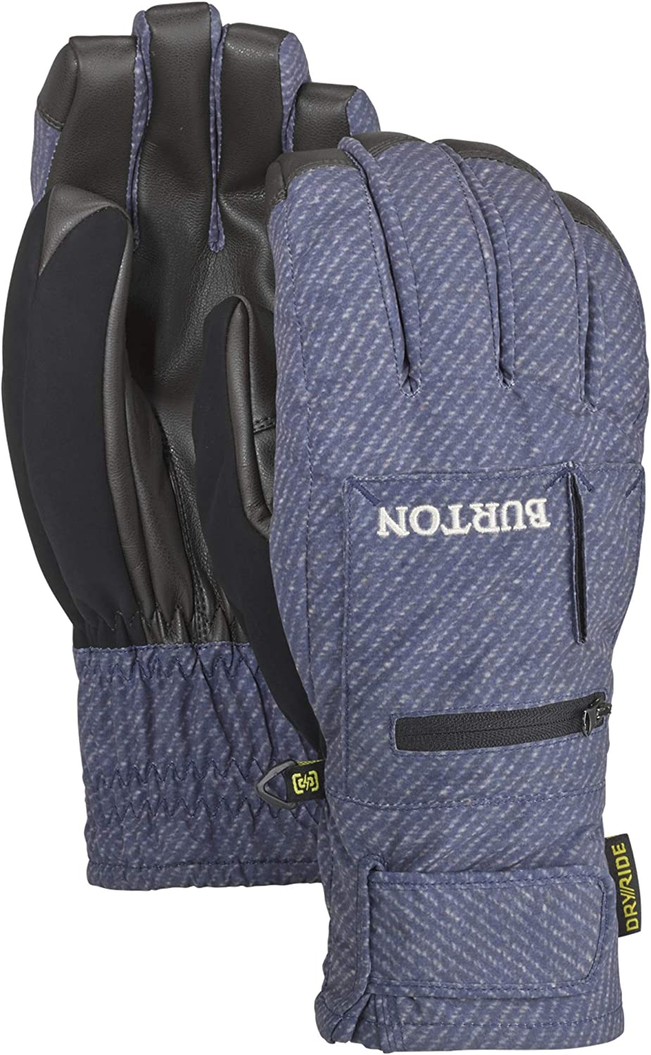 Burton Mens Baker 2-in-1 Under Glove with Removable Liner