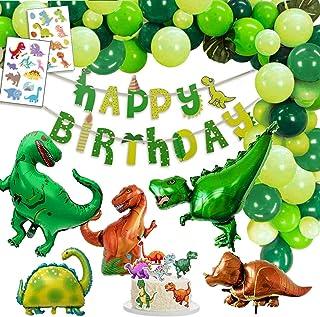 Dinosaurus Verjaardagsversiering Feestje, 1 Gelukkige Verjaardag Banner, 2 Gigantische Dinosaurussen, 3 XXL Dino Balloone...