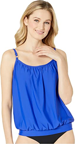 Samba Solids Blouson Tankini with Removable Soft Cups